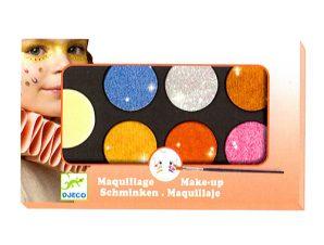 Djeco παλέτα μακιγιάζ 6 χρώματα Μεταλλικά