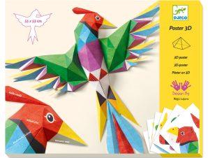 Djeco Κατασκευάζω με χαρτί τρισδιάστατα Πουλιά Αμαζονίου