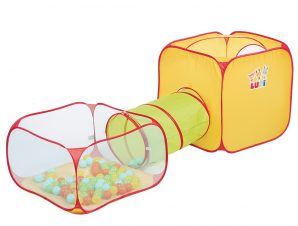 Ludi κύβος-σκηνή παιχνιδιού pop-up με τούνελ