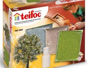 Teifoc Χτισίματος σετ γκαζόν, χαλίκια , δέντρα .