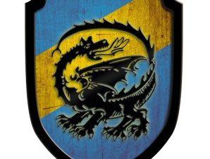 Ασπίδα Οικόσημο Δράκος μπλε
