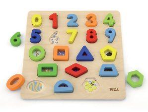 Viga Ξύλινα Σφηνώματα Αριθμοί και Σχήματα