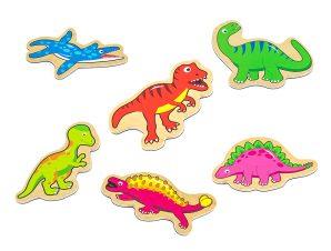 Viga Ξύλινα Μαγνητάκια Δεινόσαυροι 20 τεμ.