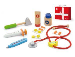 Viga Βαλιτσάκι γιατρού με ξύλινα εργαλεία