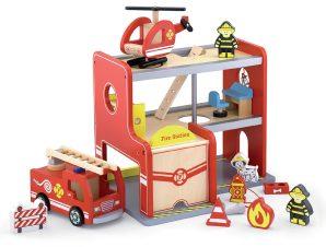 Viga Πυροσβεστικός σταθμός ξύλινος πλήρης 35εκ.