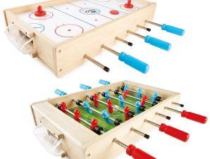 Pin Toys Ξύλινο ποδοσφαιράκι – χόκει 2 σε 1, από μασίφ καουτσουκόδεντρο