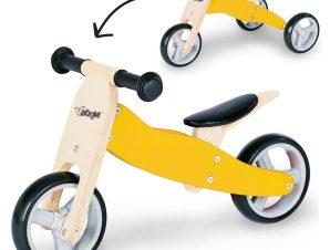Zenit Ξύλινο Τρίκυκλο Ποδήλατο Κίτρινο
