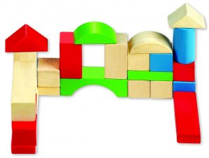 Ξύλινα τουβλάκια 50 τεμαχίων, Ηλικίες:1 ετών